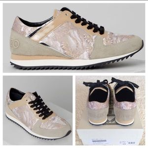 BRAND NEW KENZO TIGER-PRINT LACE-UP SNEAKER/BEIGE
